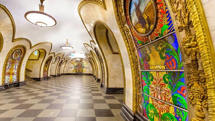 Eine Moskauer Metro-Station