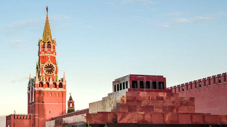 Das Lenin-Mausoleum auf dem Roten Platz
