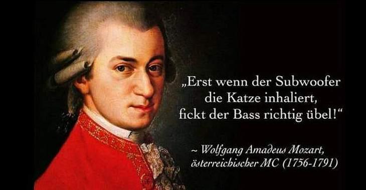 Wolfgang Amadeus Mozart weiß, wie Bass muss