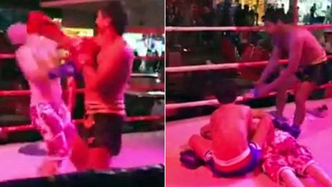 Ein betrunkener englischer Tourist kämpft in Pattaya mit einem Muay-Thai-Fighter - Foto: Craziest Sports Fights