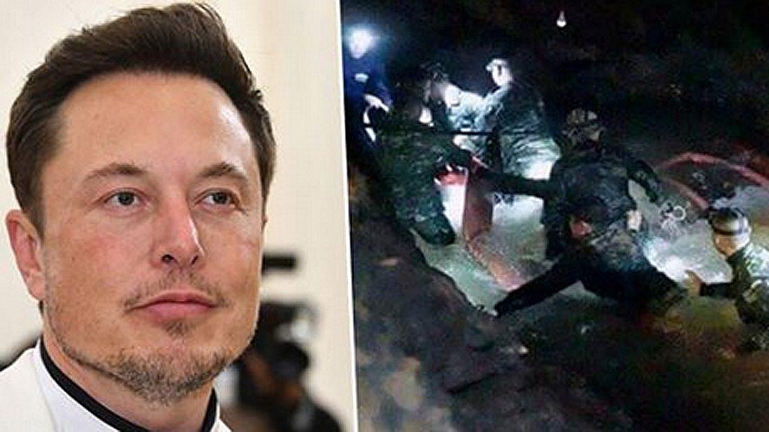 Elon Musk / Rettungstaucher in Thai-Höhle