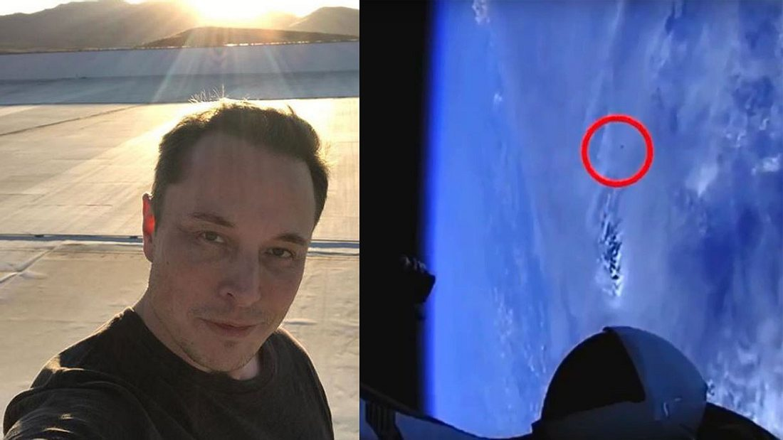 UFO gesichtete, nach Start von Elon Musks SpaceX-Rakete