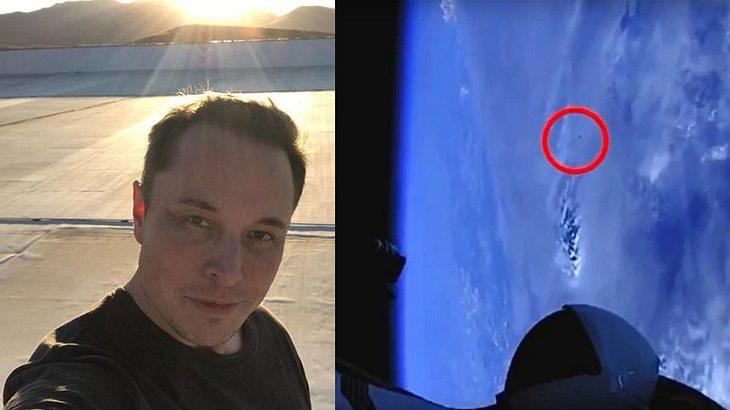 """""""UFO"""" gesichtete, nach Start von Elon Musks SpaceX-Rakete"""