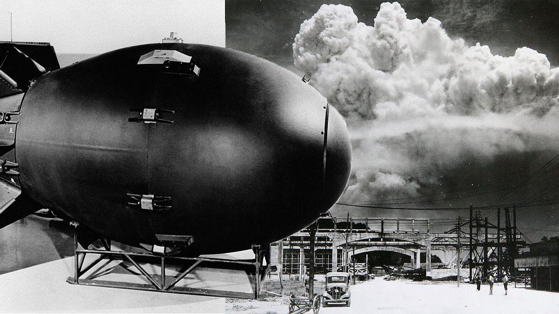 Fat Man wurde über Nagasaki abgeworfen