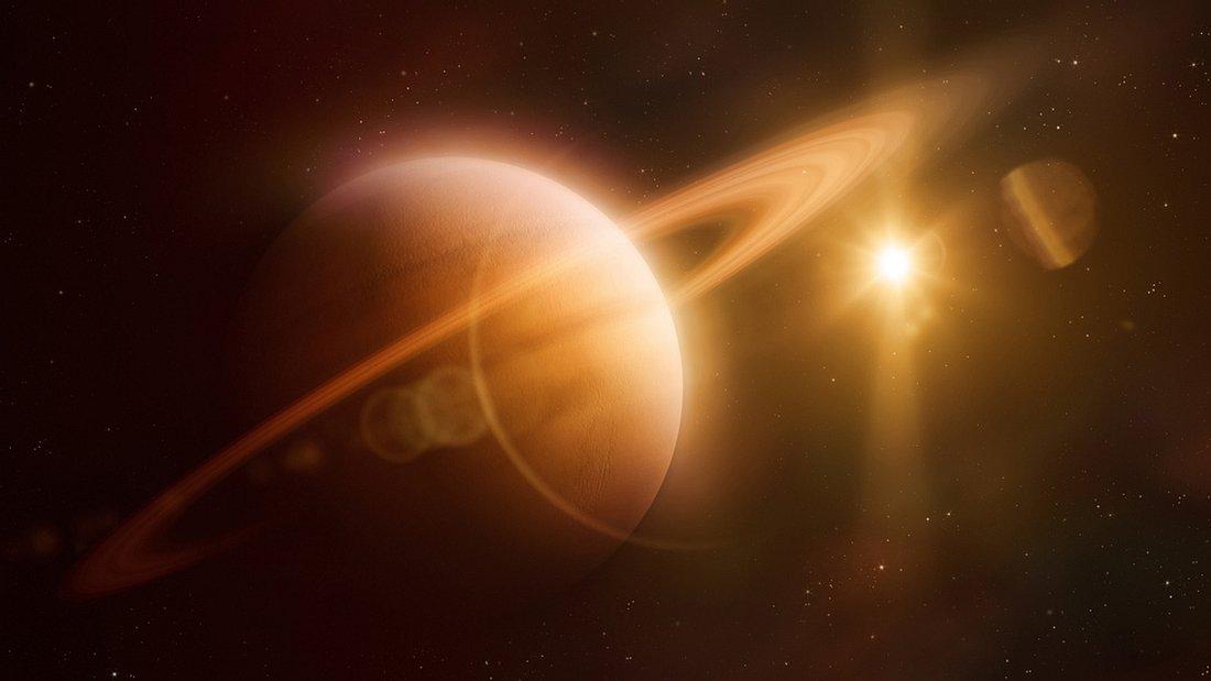 Ansicht des Planeten Saturn