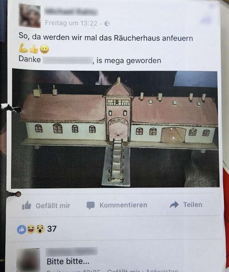 Wegen KZ-Posting bei Facebook vor Gericht: Neo-Nazi Michael R.