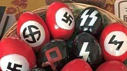 Braune Ostergrüße: Wegen Eiern mit Nazi-Symbolen wurde eine Rentnerin zu einer Geldstrafe verurteilt - Foto: Facebook