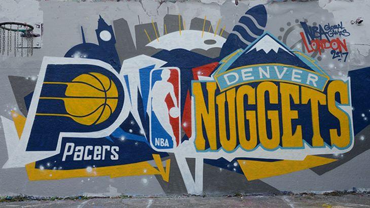 Grafitti: Bei NBA in London trafen die Indiana Pacers auf die Denver Nuggets