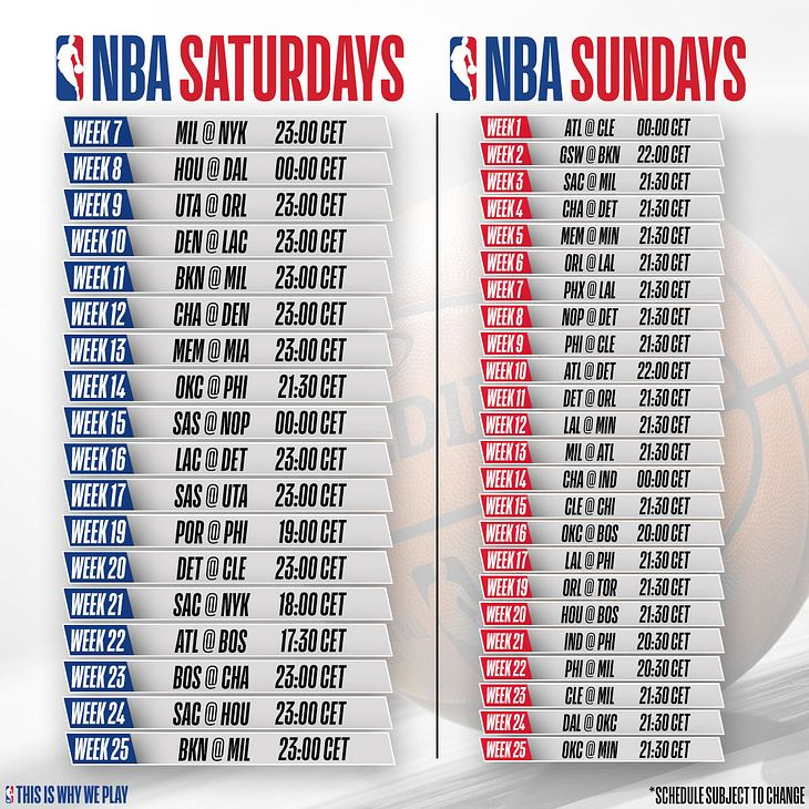 NBA Sundays