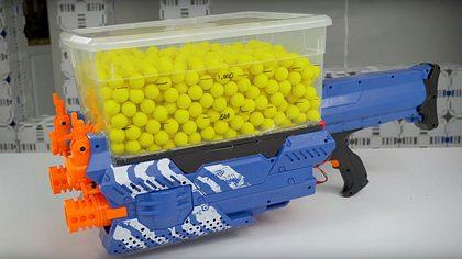 Keine Ladehemmungen: Der Triple-Nerf-Blaster mit 1.200 Schuss