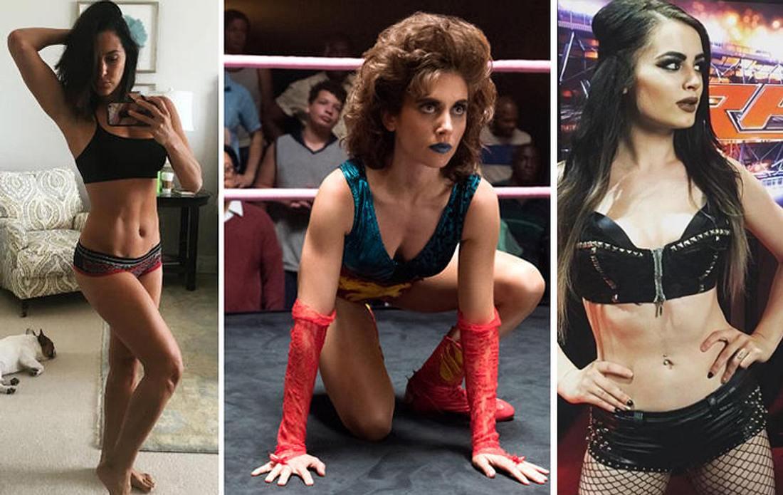 Sowohl in der Netflix-Serie GLOW als auch bei der WWE hauen uns die Wrestling-Girls um