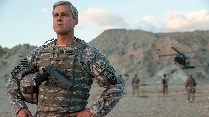 "Brad Pitt in dem neuen Netflix-Film ""War Machine"""