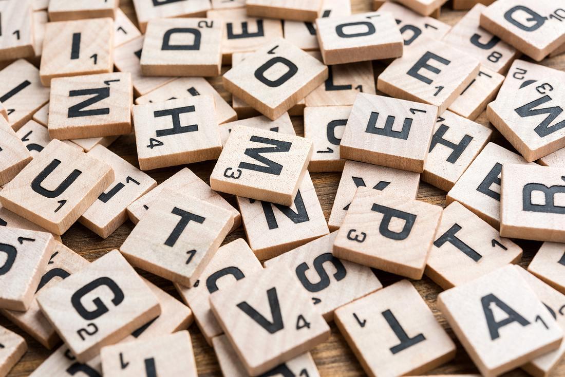 Spielsteine von Scrabble