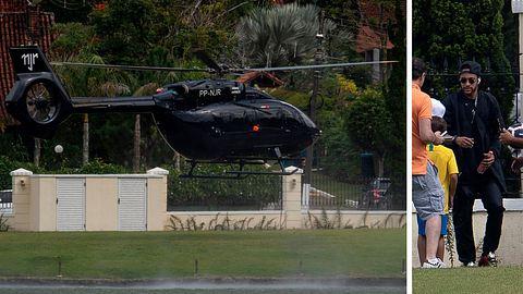 Neymar und sein neuer Helicopter - Foto: Getty Images / Mauro Pimentel