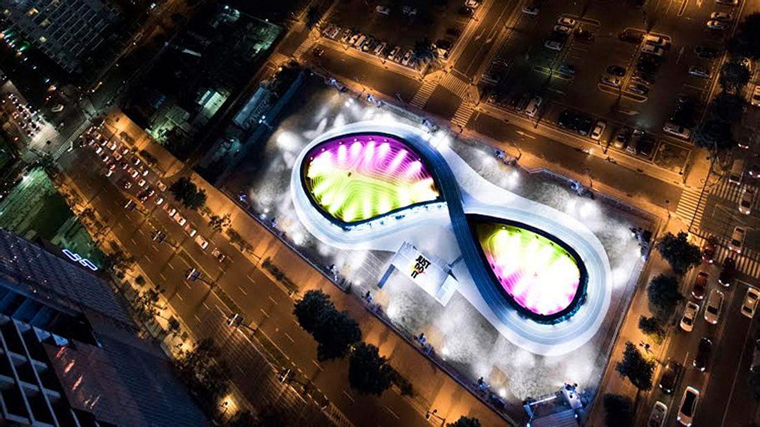Nike Unlimited Stadion in Manila: Die erste LED-Laufstrecke der Welt