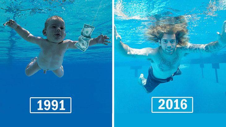 """Tauchendes """"Nirvana""""-Baby stellt legendäres Plattencover nach"""