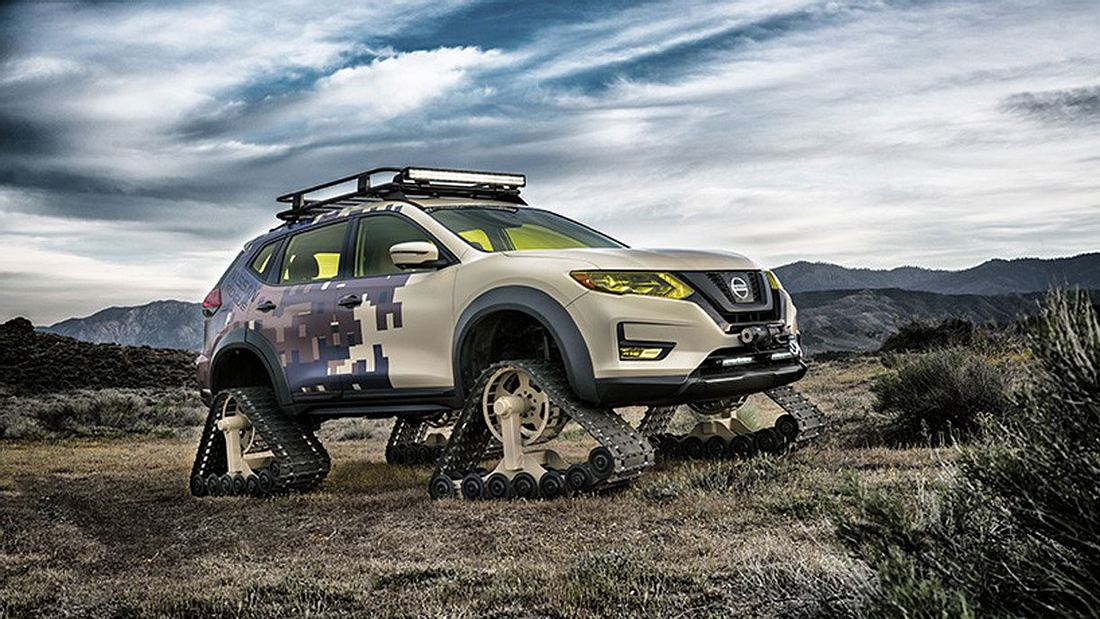 Ketten-SUV: Nissan Rogue Trail Warrior