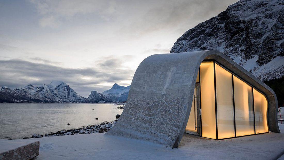 Rastplatztoilette in Norwegen (Ureddplassen)