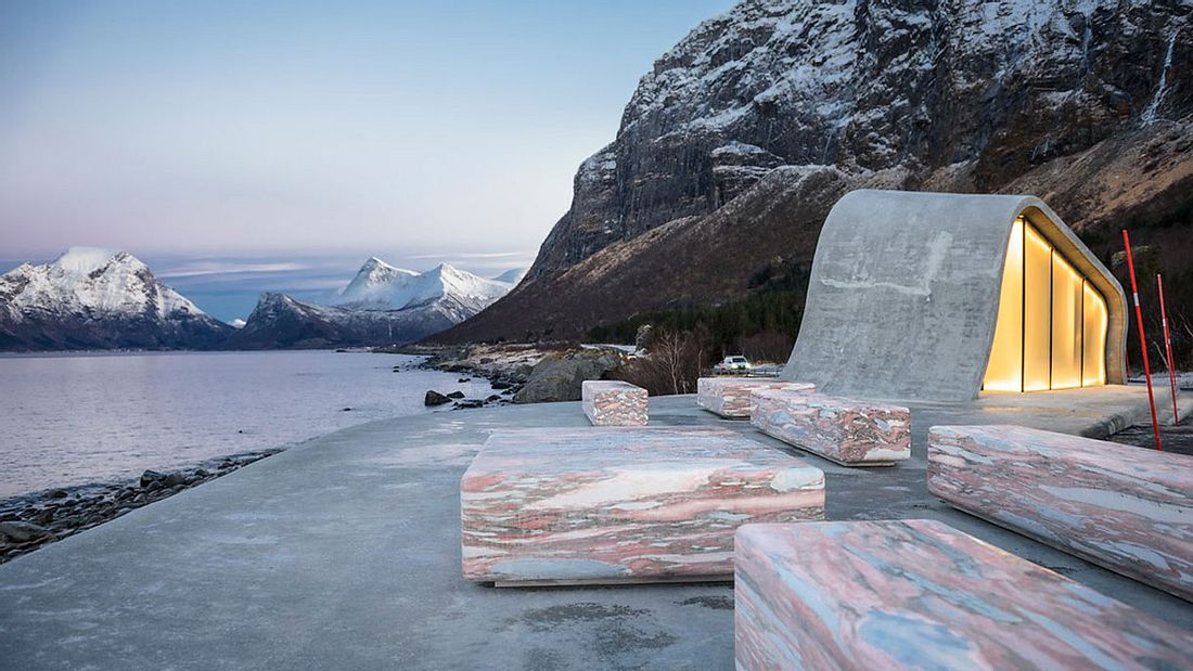 Toilettengebäude in Norwegen