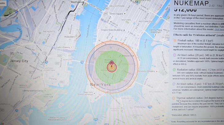 Google-Maps-Simulator: Mit dieser App lässt du Wasserstoffbomben platzen