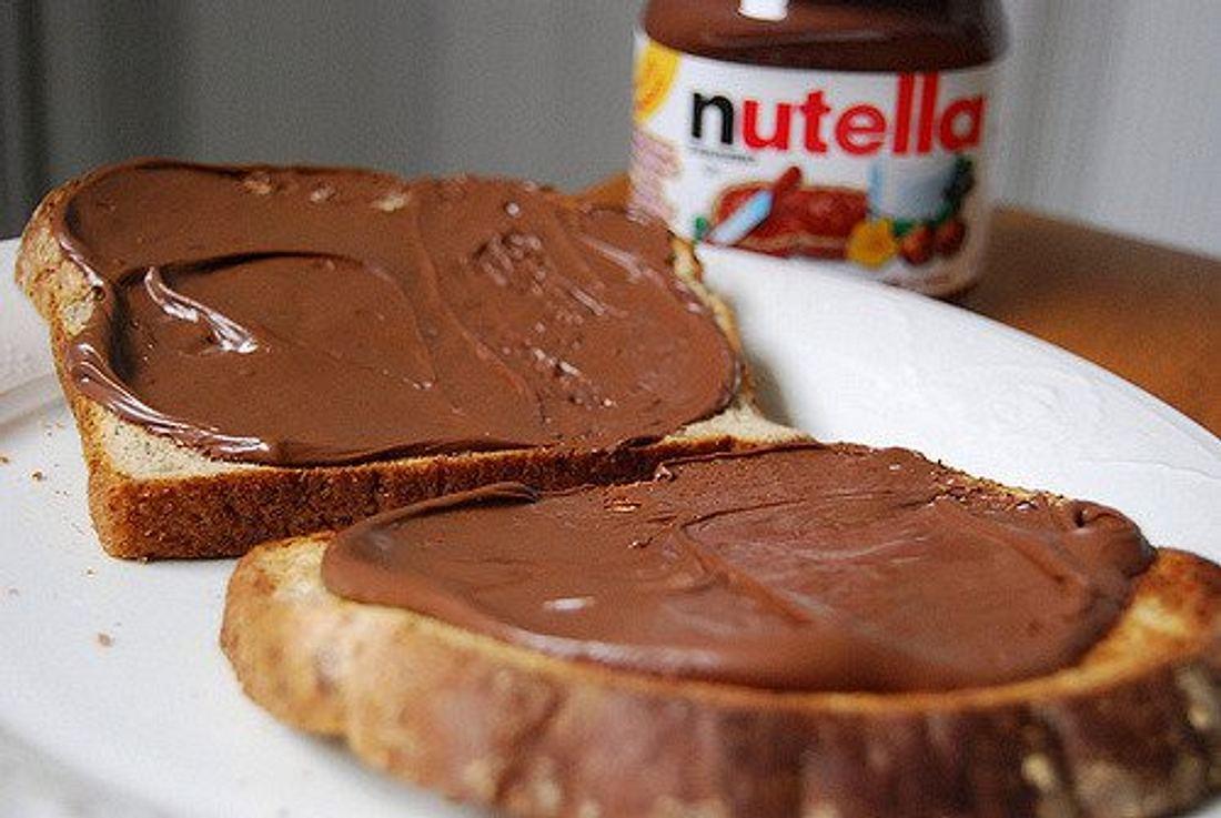 Ein Brot mit Nutella