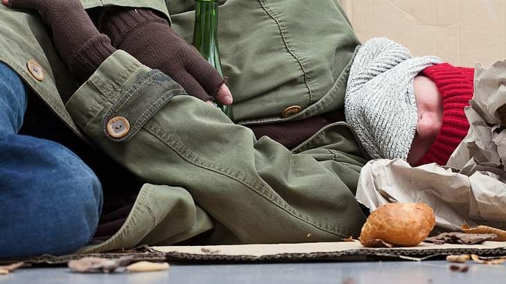 Obdachloser Sohn
