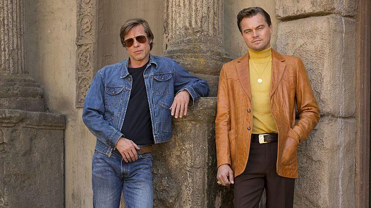 Brad Pitt, Leo DiCaprio und Margot Robbie