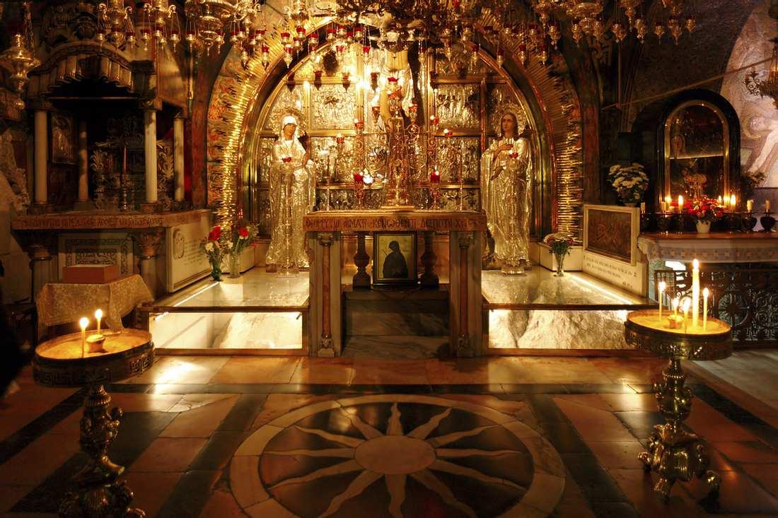 Eine russisch orthodoxe Kirche