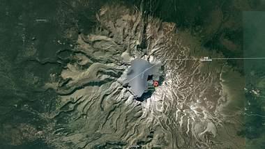 Der Mount Paektu ist ein schlafender Supervulkan - Foto: 2017 Google/CNES/Airbus Kartendaten