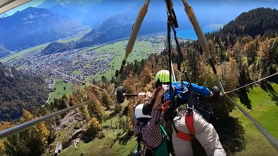 Paragliding-Beinahe-Unfall