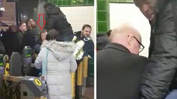 Ein Mann hat seinen Penis in der Londoner U-Bahn eingeklammt