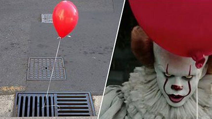 Rote Ballons an Gullideckeln: Guerilla-Marketing für Stephen Kings Es