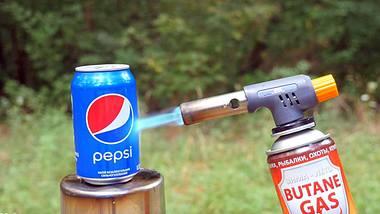Splash? Pepsi-Dose vs. Gasbrenner