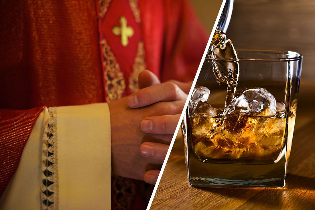 Pfarrer schenkt Whisky aus
