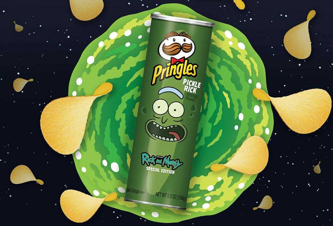 Pickle Rick-Chips von Pringles