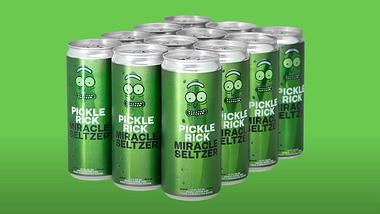 Pickle Rick Miracle Seltzer Sprudel - Foto: YouTube / Adult Swim
