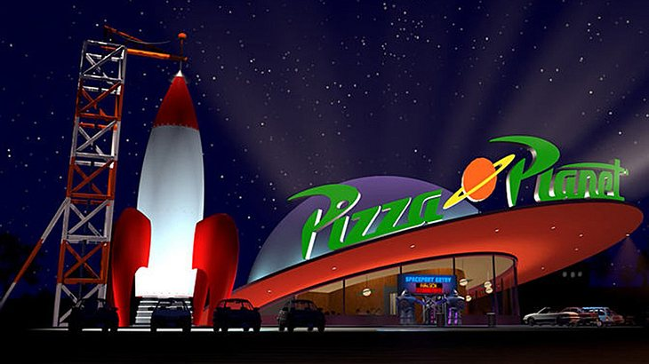 Im Disney Land in Orlando eröffnet der Pizza Planet