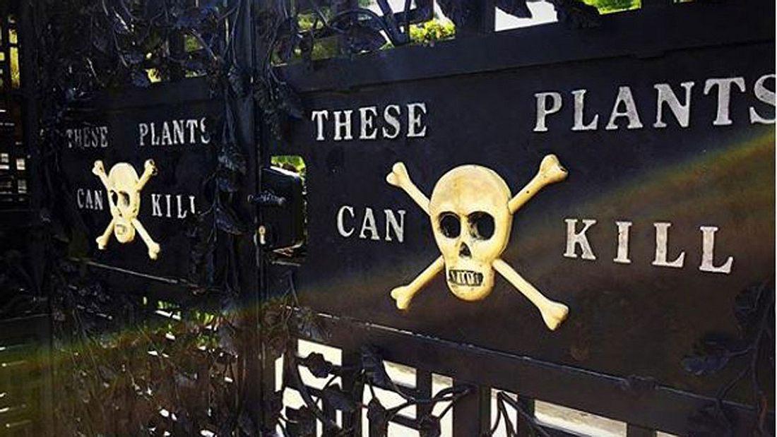 Die Warnung vor dem Eintritt in den Poison Garden