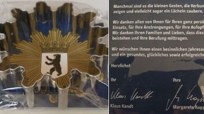 Weihnachts-Prämie für Berliner Polizei erzürnt die Gemüter