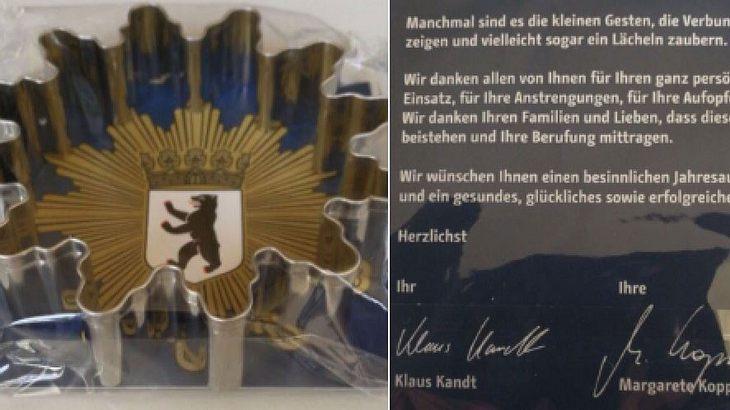 Weihnachtsgeschenk für die Polizei Berlin