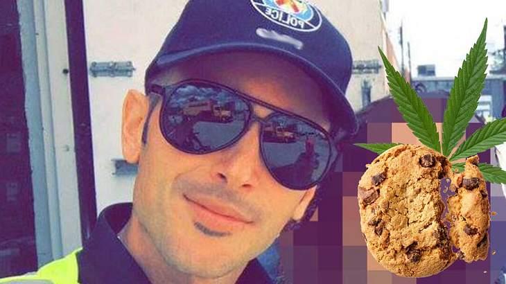 Polizisten essen Hasch-Kekse