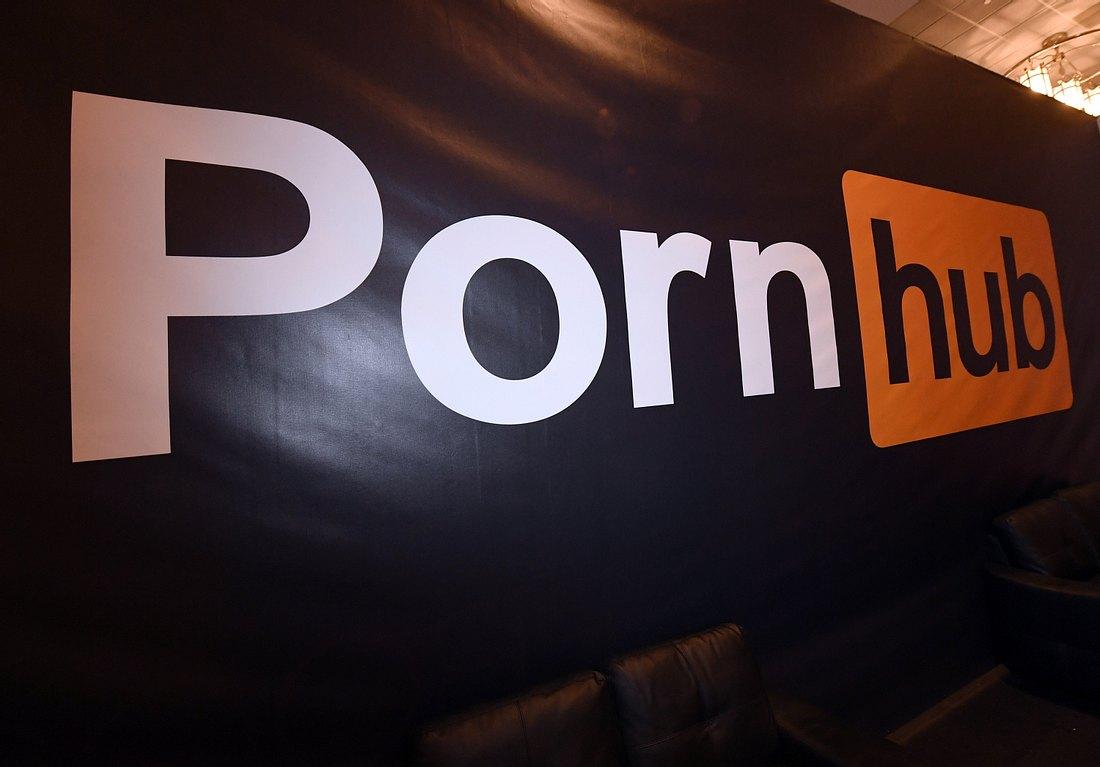 Leinwand mit Pornhub-Logo