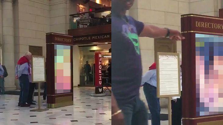 Auf dem Wahsingtoner Bahnhof Union Station wurden auf einer Digitalanzeige Pornos abgespielt