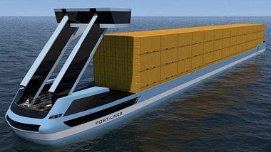 Portliner: Elektro-Containerschiffe schon 2019 startklar