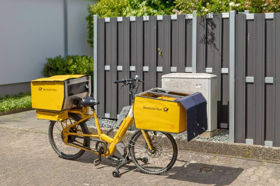 Gepäckfahrrad der Deutschen Post
