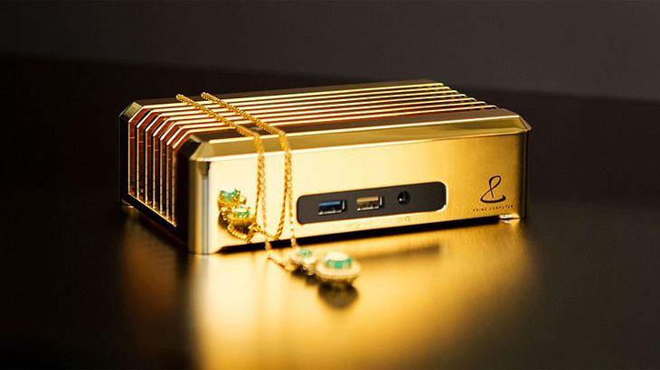 18 Karat Gold: Der Mini-PC von Prime Computer ist purer Luxus