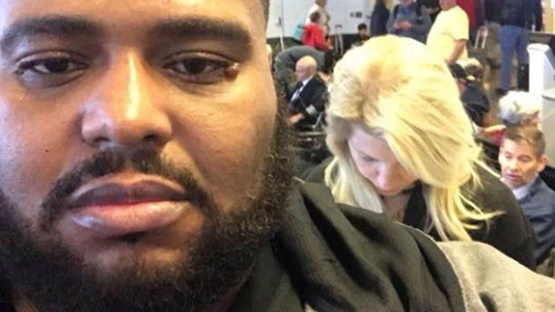 Afroamerikaner prangert Rassismus am Flughafen an.
