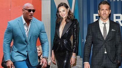 Dwayne Johnson, Gal Gadot, Ryan Reynolds - Foto: Getty Images / Leon Bennett / Toni Anne Barson / Jason Mendez (Collage Männersache)