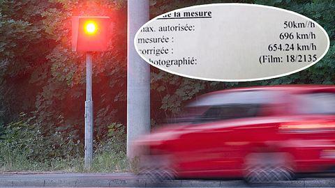 6.000 Euro Strafe: Mann in Belgien mit 700 km/h geblitzt