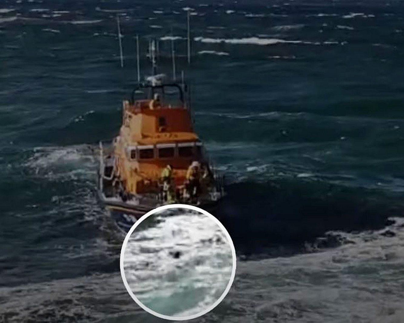Rettungsaktion auf dem Meer